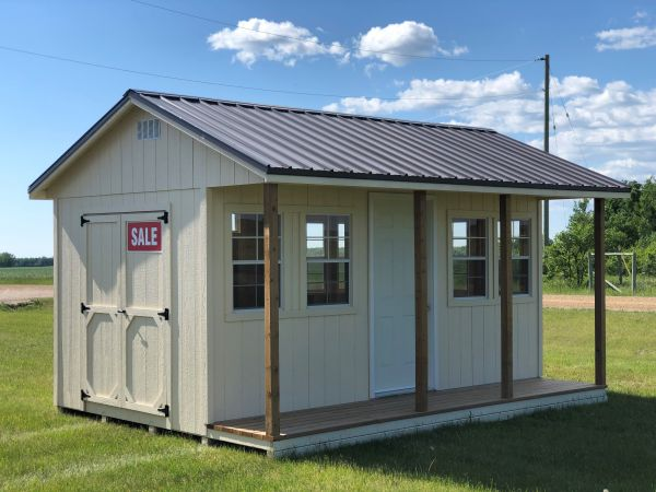 9x16 Ranch Style Shed With 3ft Deck Horizon Storage Sheds